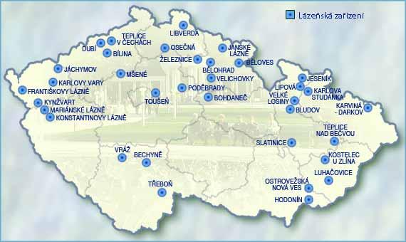 Lázeňská zařízení v ČR